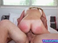 Daughter riding sucking cock blowjob big dong