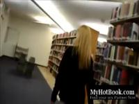 Cute blonde Teen has Sex in a public Library