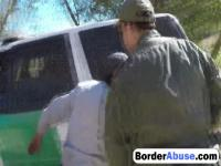 Sexy babe gets her holes inspected at the border