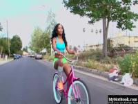 Toni Marie was riding her bike down the street, when a horny man