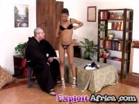 Sexually sinner horny father devouring small tits ebony