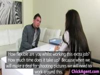 Casting agent doggystyled after blowjob
