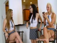 Schoolgirls Have A Threesome