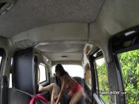 Ebony gal rimmed ass of taxi driver
