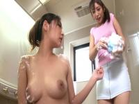 Incredible Japanese chicks Rina Fukada, Shizuka Kanno in Fabulous JAV censored Bathroom, Hairy movie