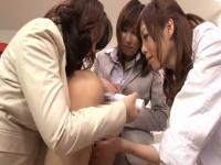 Horny Japanese sluts Hinata Komine, Mirei Yokoyama, Nachi Sakaki in Exotic JAV censored Fetish, Group Sex scene