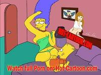 Porra de Simpsons pornô #1 Bart Marge Cartoon Porn HD