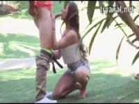 Anal sex in the middle of a public park