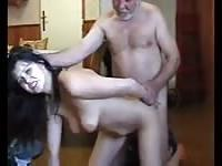 Hot ho getting fucked by a dirty old man