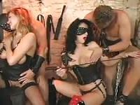 Wild and kinky BDSM orgy encounter