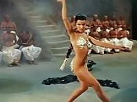 A Bollywood beauty dances sensually