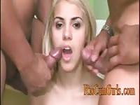Blonde Brazilian cum lovin' slut