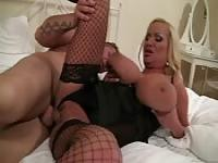 Busty MILF shines when screwing hard