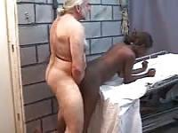 Older man's kinky tryst with a black beauty