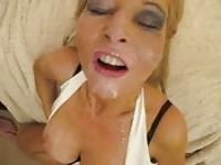 Cum covered facial