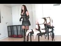 Busty dominatrix gets her way
