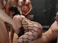 Fishnet fuck slut
