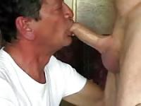 Old gay deepthroat