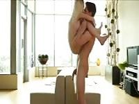 Thrilling acrobatic sex indoors