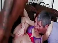 Dirty cougar getting shagged by a black guy