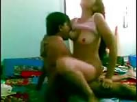 Indian couple get naughty in the bedroom