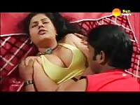 Indian amateur with juicy big tits loves how he plays with her body