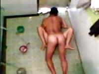 Hidden cam catches couple doing it in the shower