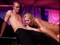 Tanya James takes a guy to an empty strip club