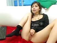 Linda teen colombiana se burla en webcam