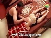 Indian couple massage and love