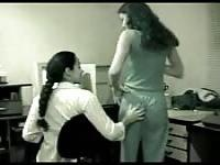 Hot lesbians at the office