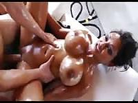 Oiled up Indian slut