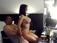 Exquisite slut getting nailed by a chubby dude