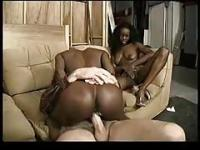 Two ebony Twin Sisters Take On A White lover