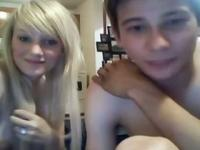 Hot blonde pussy teen Fucks And Sucks Her BF For Strangers Online