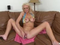 Fetching Casey James ride a dildo