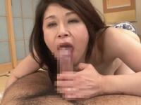 Beauteous breasty asian MILF Yoshie Mizuno is putting fingers in her lovehole