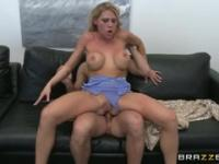 Beautiful breasty Charisma Cappelli is having an anal sex
