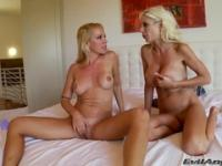 Lesbian sex video featuring Sandy D and Puma Swede