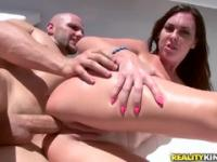Racy breasty Brittany Shae getting her face fucked