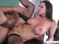Sexy brunette Kendra Lust in amazing lingerie video
