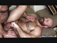 Hairy bear bareback and cumshot