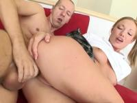 Good-looking trimmed youthful harlot was hard fucked