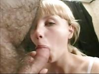 Young blonde girl BJ