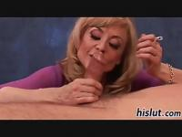 Stacked mature blonde has her beaver plugged