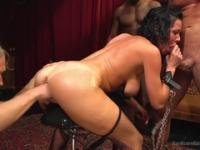 Mellow Veronica Avluv performing in a wild gangbang XXX scene