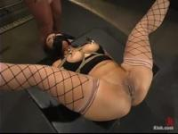 Hot huzzy performing in BDSM video