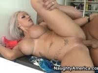 Supreme bald English Brooke Jameson getting sperm blast on her face