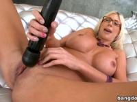 Delightful blonde mom Puma Swede performing in hardcore XXX video