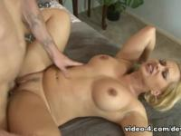 Spicy breasty mom Katja Kassin receiveing huge facial cumshot